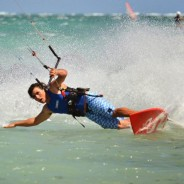 Kiteboarding in wakeboarding