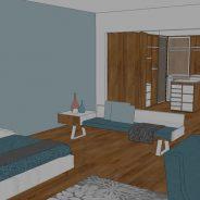 Izdelava opreme oziroma pohištva po meri za celotno stanovanje
